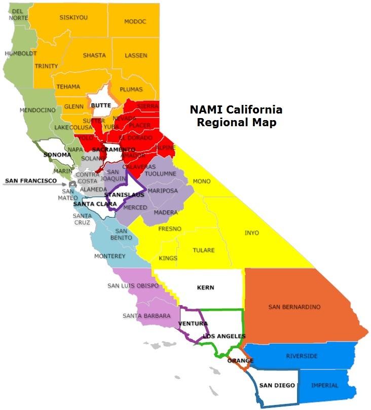 cal regional map