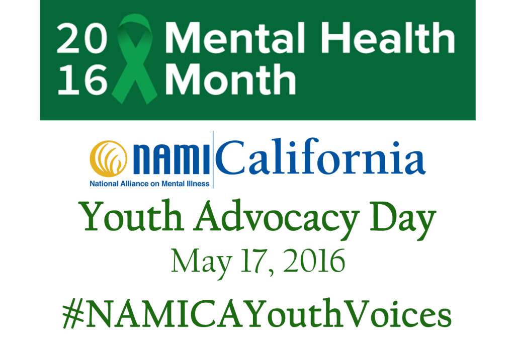 #NAMICAYouthVoices NAMI California is calling youth ages 14-25 to spread awareness about mental health on Youth Advocacy Day on May 17 and all month long for Mental Health Month in May!